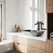 Rectangular Titanium Glass Vessel Bathroom Sink Set with Duris Vessel Faucet in Matte Black, 18-1/8'' W x 13-1/8'' D x 4-1/8'' H