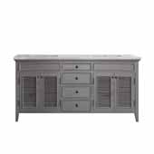 Piedmont 72'' Double Vanity Set in Grey with Carrara White Marble Countertop, 72-13/16''W x 23-3/16''D x 35-11/16''H