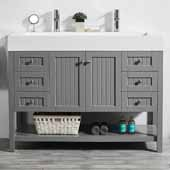 Pavia 48'' Single Sink Vanity Set in Grey with Acrylic under-mount Sink Top, 47-3/16''W x 19-11/16''D x 35-13/16''H