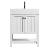 """Pavia 28"""" Single Vanity Set In White With Acrylic Under-Mount Sink, 27-5/8''W X 19-11/16''D X 36-3/16''H,"""