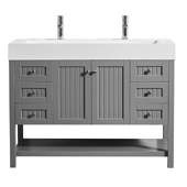Pavia 48� Single Vanity Set In Grey With Acrylic Under-Mount Sink, 47-3/16''W X 19-11/16''D X 35-13/16''H,