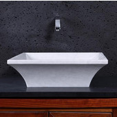 Damon Vessel Bathroom Sink in Hunan White Marble