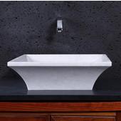 Damon Vessel Bathroom Sink in Hunan White Marble