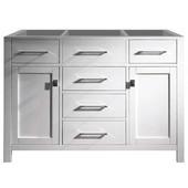 Caroline 48'' Single Sink Bathroom Vanity Cabinet, White