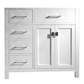 Caroline Parkway 36'' Single Bathroom Vanity with Left Side Drawers, White, Cabinet Only, 35-1/5'' W x 21-7/10'' D x 33-1/2'' H