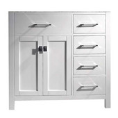Caroline Parkway 36'' Single Bathroom Vanity with Right Side Drawers, White, Cabinet Only, 35-1/5'' W x 21-7/10'' D x 33-1/2'' H