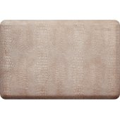 Croc Collection 3' x 2' Anti-Fatigue Floor Mat in Sand Dollar with White on Tan Base, 36'' W x 24'' D x 3/4'' Thick