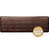 Croc Collection 6' x 2' Anti-Fatigue Floor Mat in Antique Dark with Brown Base, 72'' W x 24'' D x 3/4'' Thick