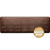 Croc Collection 6' x 2' Anti-Fatigue Floor Mat in Antique Light with Tan Base, 72'' W x 24'' D x 3/4'' Thick