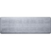 Croc Collection 6' x 2' Anti-Fatigue Floor Mat in Beach Glass with White on Gray Base, 72'' W x 24'' D x 3/4'' Thick
