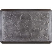 3'x2' Estates Collection Essential Series Onyx Color Floor Mats with Bella Pattern, 36'' W x 24'' D x 3/4'' H