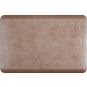 3'x2' Estates Collection Essential Series Sandstone Color Floor Mats with Bella Pattern, 36'' W x 24'' D x 3/4'' H