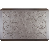 3'x2' Estates Collection Essential Series Silver Leaf Color Floor Mats with Bella Pattern, 36'' W x 24'' D x 3/4'' H