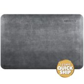 Linen Collection 3' x 2' Anti-Fatigue Floor Mat in Slate with Burnished Nickel on Gray Base, 36'' W x 24'' D x 3/4'' Thick