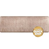 Linen Collection 6' x 2' Anti-Fatigue Floor Mat in Sand Dollar with White on Tan Base, 72'' W x 24'' D x 3/4'' Thick