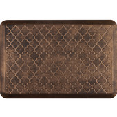 3'x2' Estates Collection Essential Series Bronze Color Floor Mats with Trellis Pattern, 36'' W x 24'' D x 3/4'' H