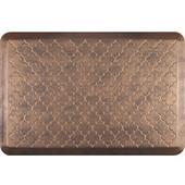 3'x2' Estates Collection Essential Series Antique Gold Color Floor Mats with Trellis Pattern, 36'' W x 24'' D x 3/4'' H