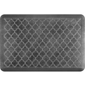 3'x2' Estates Collection Essential Series Onyx Color Floor Mats with Trellis Pattern, 36'' W x 24'' D x 3/4'' H
