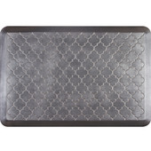 3'x2' Estates Collection Essential Series Slate Color Floor Mats with Trellis Pattern, 36'' W x 24'' D x 3/4'' H