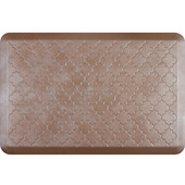 3'x2' Estates Collection Essential Series Sandstone Color Floor Mats with Trellis Pattern, 36'' W x 24'' D x 3/4'' H