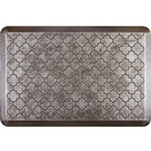 3'x2' Estates Collection Essential Series Silver Leaf Color Floor Mats with Trellis Pattern, 36'' W x 24'' D x 3/4'' H