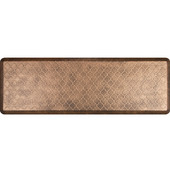 6'x2' Estates Collection Essential Series Bronze Color Floor Mats with Trellis Pattern, 72'' W x 24'' D x 3/4'' H