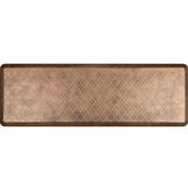 6'x2' Estates Collection Essential Series Bronze Color Floor Mats with Trellis Pattern, 72'' W x 24'' D x 3/4'' H