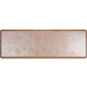 6'x2' Estates Collection Essential Series Sandstone Color Floor Mats with Trellis Pattern, 72'' W x 24'' D x 3/4'' H