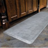 Linen Collection 6' x 2' Anti-Fatigue Floor Mat in Beach Glass with White on Gray Base, 72'' W x 24'' D x 3/4'' Thick