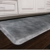 Linen Collection 6' x 2' Anti-Fatigue Floor Mat in Onyx with Burnished Nickel on Black Base, 72'' W x 24'' D x 3/4'' Thick