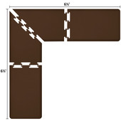 Original Collection PuzzlePiece L Series 6.5' x 6.5' x 2' Anti-Fatigue Floor Mat in Brown, 78'' W x 24'' D, 3/4'' Thick