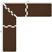 Original Collection PuzzlePiece L Series 7' x 7' x 2' Anti-Fatigue Floor Mat in Brown, 84'' W x 24'' D, 3/4'' Thick