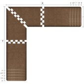 Granite Collection PuzzlePiece L Series 6.5' x 6.5' x 2' Anti-Fatigue Floor Mat in Granite Copper, Available in Multiple Sizes & Finishes, 78'' W x 78'' W x 24'' D, 3/4'' Thick