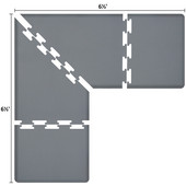 Original Collection PuzzlePiece L Series 6.5' x 6.5' x 3' Anti-Fatigue Floor Mat in Gray, 78'' W x 36'' D, 3/4'' Thick