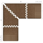 Granite Collection PuzzlePiece L Series 6.5' x 6.5' x 3' Anti-Fatigue Floor Mat in Granite Copper, Available in Multiple Sizes & Finishes, 78'' W x 78'' W x 36'' D, 3/4'' Thick