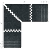 Granite Collection PuzzlePiece L Series 6.5' x 6.5' x 3' Anti-Fatigue Floor Mat in Granite Onyx, Available in Multiple Sizes & Finishes, 78'' W x 78'' W x 36'' D, 3/4'' Thick