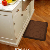 2011 Motif Collection - Bella Wellness Mat, 36'' W x 24'' D x 3/4'' H, Brown
