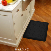 2011 Motif Collection - Bella Wellness Mat, 36'' W x 24'' D x 3/4'' H, Black