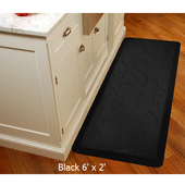 2011 Motif Collection - Bella Wellness Mat, 72'' W x 24'' D x 3/4'' H, Black