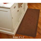 2011 Motif Collection - Bella Wellness Mat, 72'' W x 24'' D x 3/4'' H, Brown