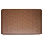 2011 Motif Collection - Trellis Wellness Mat, 36'' W x 24'' D x 3/4'' H, Brown