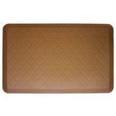 2011 Motif Collection - Trellis Wellness Mat, 36'' W x 24'' D x 3/4'' H, Tan