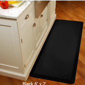 2011 Motif Collection - Trellis Wellness Mat, 72'' W x 24'' D x 3/4'' H, Black