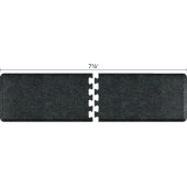 Granite Collection PuzzlePiece R Series 7.5' x 2' Anti-Fatigue Floor Mat in Granite Onyx, 90'' W x 24'' D, 3/4'' Thick