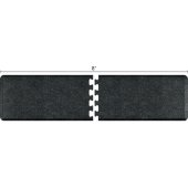 Granite Collection PuzzlePiece R Series 8' x 2' Anti-Fatigue Floor Mat in Granite Onyx, 96'' W x 24'' D, 3/4'' Thick