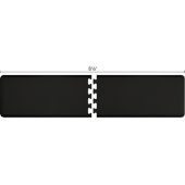 Original Collection PuzzlePiece R Series 8.5' x 2' in Black, 102'' W x 36'' D, 3/4'' Thick