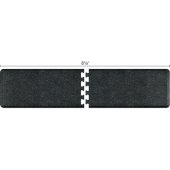 Granite Collection PuzzlePiece R Series 8.5' x 2' Anti-Fatigue Floor Mat in Granite Onyx, 102'' W x 24'' D, 3/4'' Thick