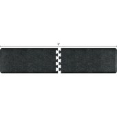 Granite Collection PuzzlePiece R Series 9' x 2' Anti-Fatigue Floor Mat in Granite Onyx, 108'' W x 24'' D, 3/4'' Thick