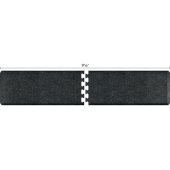 Granite Collection PuzzlePiece R Series 9.5' x 2' Anti-Fatigue Floor Mat in Granite Onyx, 114'' W x 24'' D, 3/4'' Thick