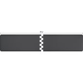 Original Collection PuzzlePiece R Series 9.5' x 2' in Gray, 114'' W x 36'' D, 3/4'' Thick